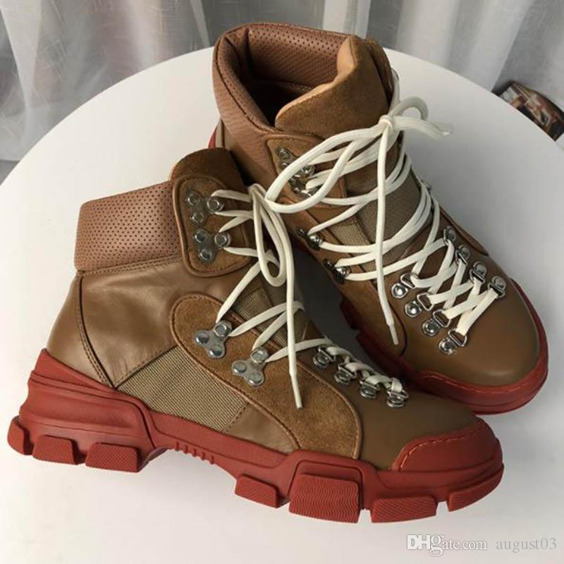 FlashTrek haut top sneakers unisexe hommes Casual cheville bottillons Bottes de randonnée militaire Chaussures femmes imperméables Chunky Martin Bottes Anti Sk YY5