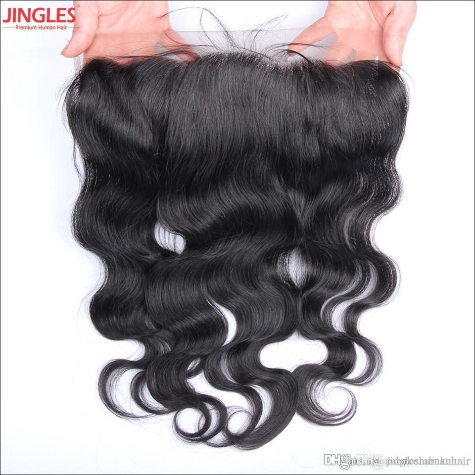 Cheveux de Remy non transformés vierges brésiliens vague de corps en dentelle frontale fermeture indienne crue indien péruvien 13x4 à oreille en dentelle frontale