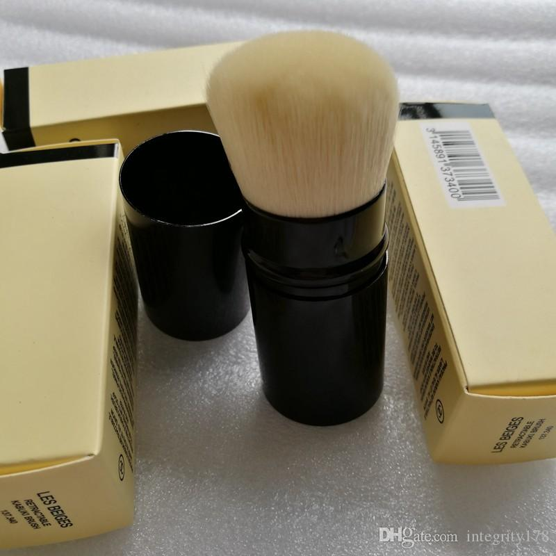 LES BELGES فرشاة فردية RETRACTABLE KABUKI BRUSH مع صندوق البيع بالتجزئة Package Makeup Brushes Blendersingle brush RETRACTABLE KA