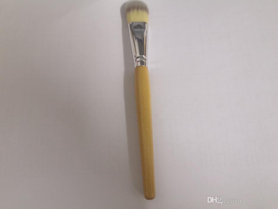 10pcs / lot Livraison gratuite Maquillage bambou Brosses cosmétiques Bambou Pinceau Poudre Fondation Masque Pinceau pinceaux de maquillage