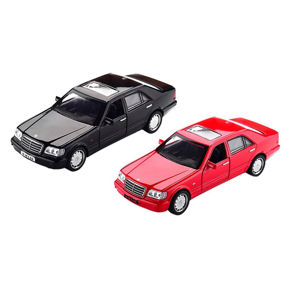 1:32 Mercedes-Benz S-W140 Alloy Model Car sound light Pull-back Toy Car Children Gifts