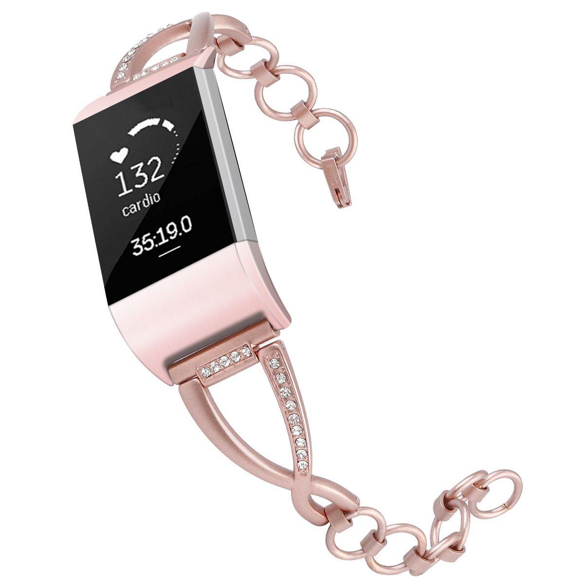 Fitbit Şarj 2 İzle Band Kristal Paslanmaz Çelik Metal Fitbit Şarj 2 Correa Fitbit Için Bileklik Kayışı Band İzle 62001