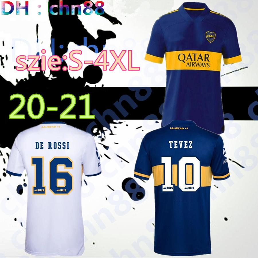 Taille: S-4XL 2020 2021 Boca Juniors Jersey 20 21 Boca Juniors Osvaldo Carlitos Perez de Rossi Tevez Pavon JRS Sports Football Shirt