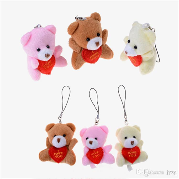 Presentes Dia Plush Toys urso para namorados Urso de Pelúcia Mini de alta qualidade Amor Macio Stuffed Animal Meninos meninas presentes de aniversário
