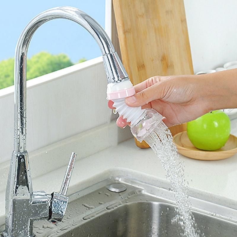 360 gradi doccia regolabile Accessori rubinetto della cucina Extender Water Saving ugello rubinetto connettore a prova di spruzzi Capo outlet