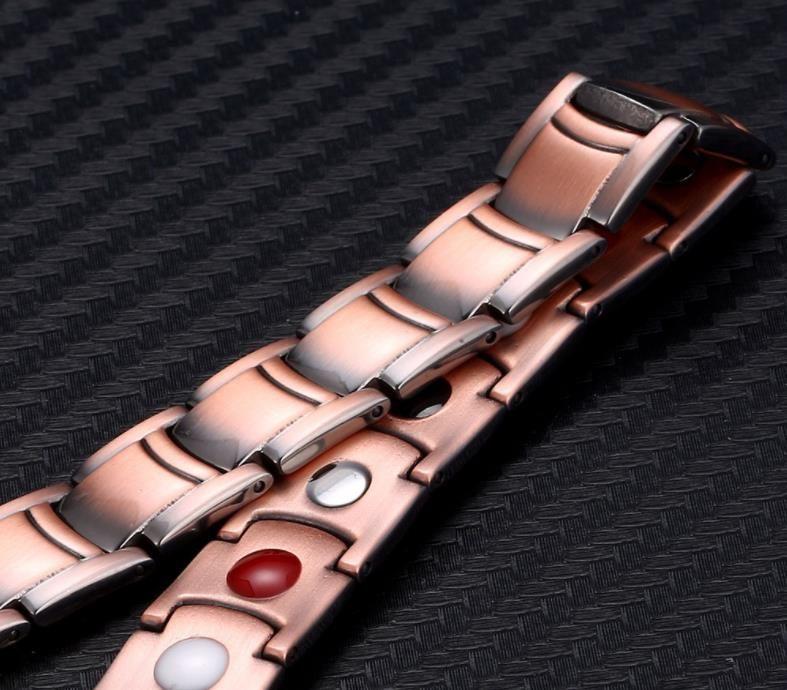 Arc belt buckle bracelet negative ion Bracelet energy bracelet for men and women with copper magnetotherapy