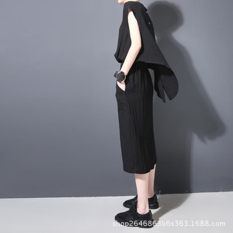 Xia Damen ärmellose Baumwolle Weste Rock Selbstanbau dünne lange Fund Kleid 205