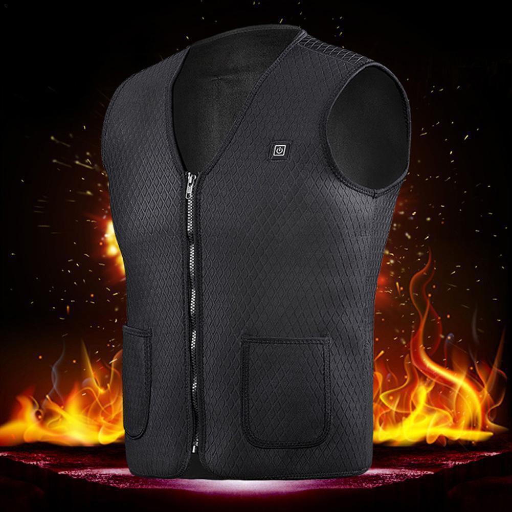 Männer Frauen Winter beheizt Jacke im Freien USB-elektrischen Thermo Weste Adjustable Temperatur Mantel Weste plus Größe Kleidung Wandern