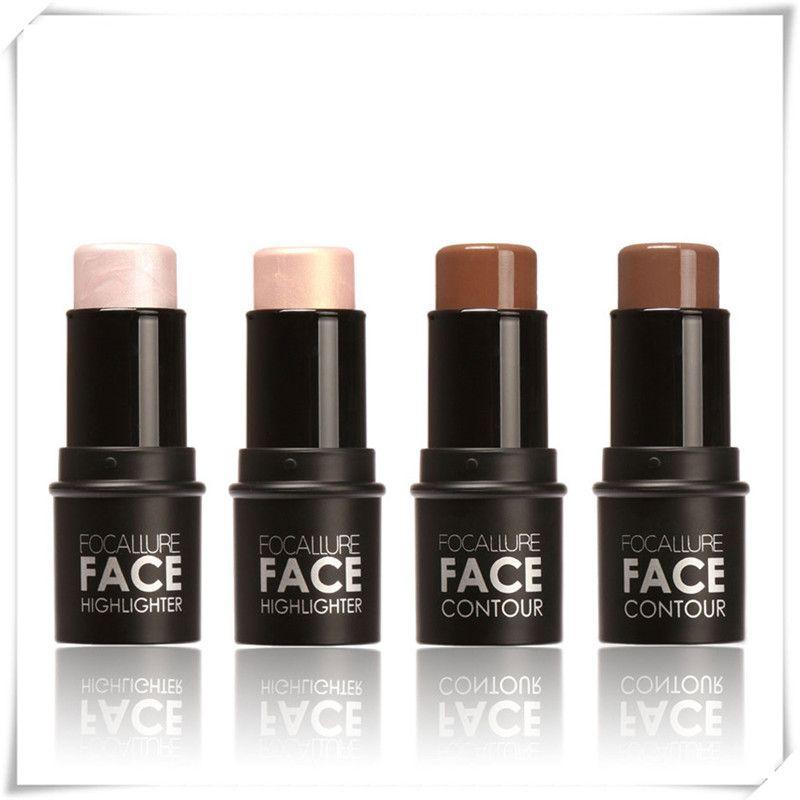Face Facial Highlighter Pen Long-lasting Master Contour V-Shape Duo Stick Women Fashion Shimmer Powder Create 3D Face Makeup