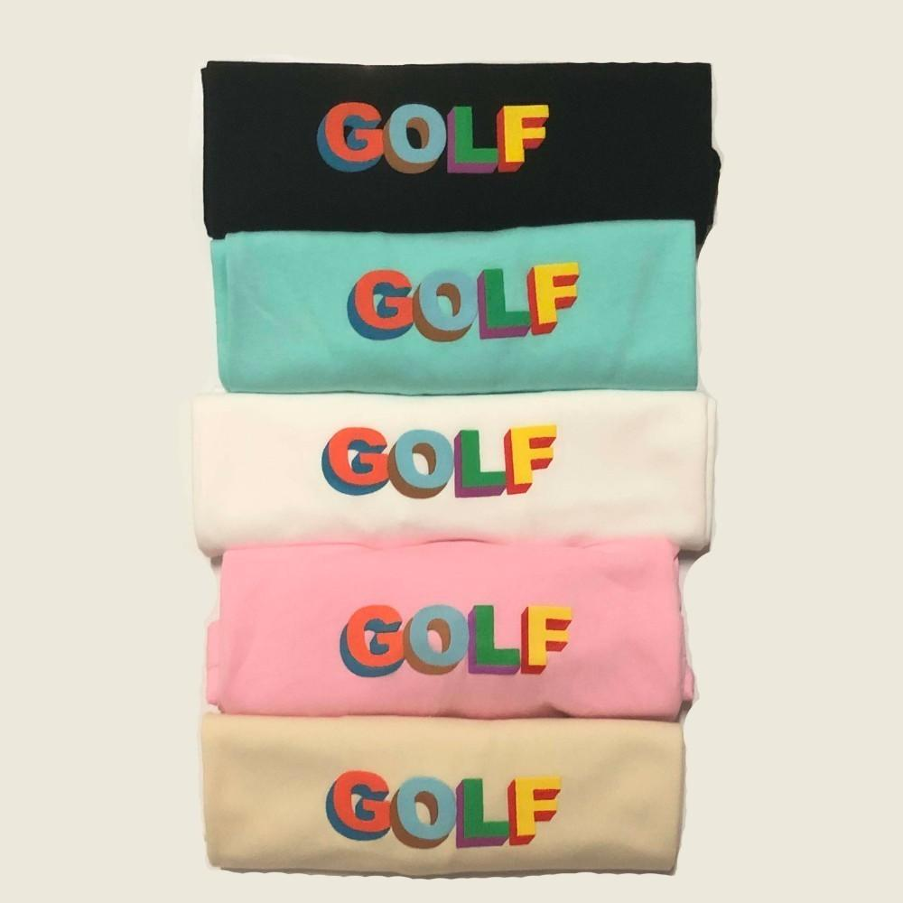 2020 Nouvelle gros Wang 3D Golf Shorts Hommes T-shirts Womens couple T-shirt de haute qualité Hip Hop Tide Tee