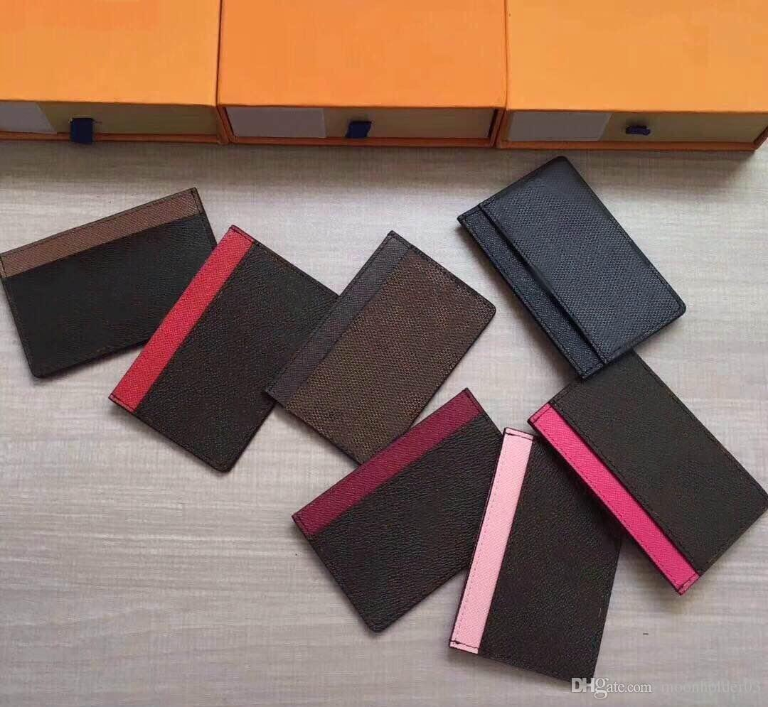 Wholesale Women Card Holder Wallet Package Sleek Business Card Holder Case  For Men Credit Card Set Mini Multi Card Small Coin Purse Mens Bags Front