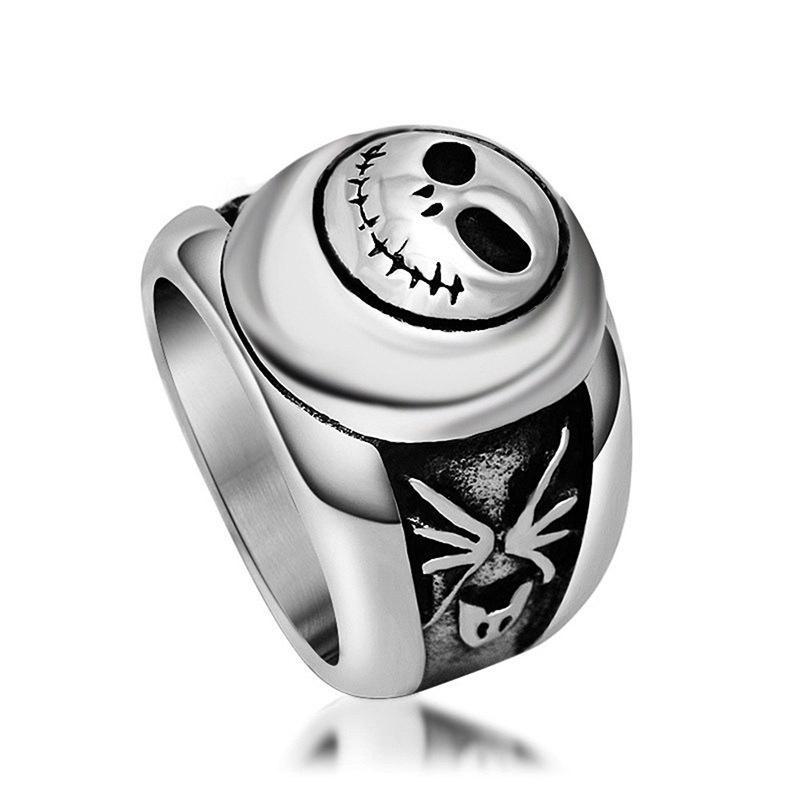 Regalo de la joyería Joker diseño de la cara del acero inoxidable de la joyería del anillo de dedo divertido de la fiesta del punk hombre Para mejor amigo