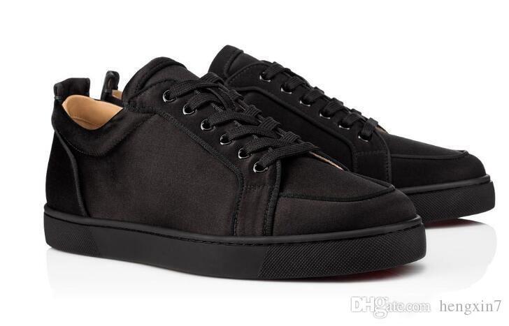 Homens inferiores vermelhas Casual Sneakers Júnior Flat Black Grain couro Formadores antulow Júnior Plano Homens sapatos baixos Black White couro genuíno