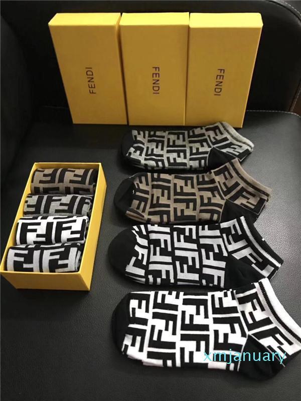4 pares Calcetines Hombres Mujeres deportivos calcetines de algodón del patín de los pares de la calle principal del invierno ocasional Stocking