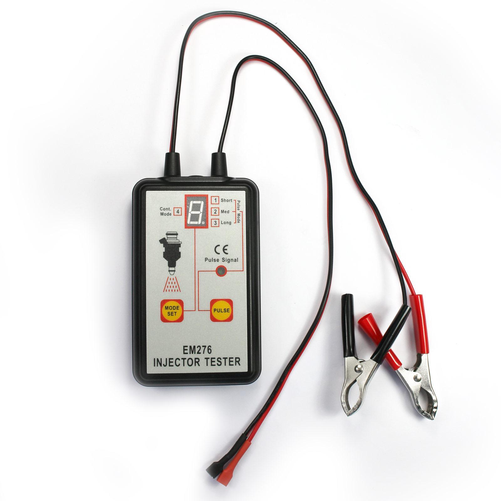 Professionale dell'iniettore di combustibile Tester 4 impulsi Modalità Auto Injector auto strumento rilevatore 12V Impianto di alimentazione ugello diagnosi dello strumento All-Sun EM276