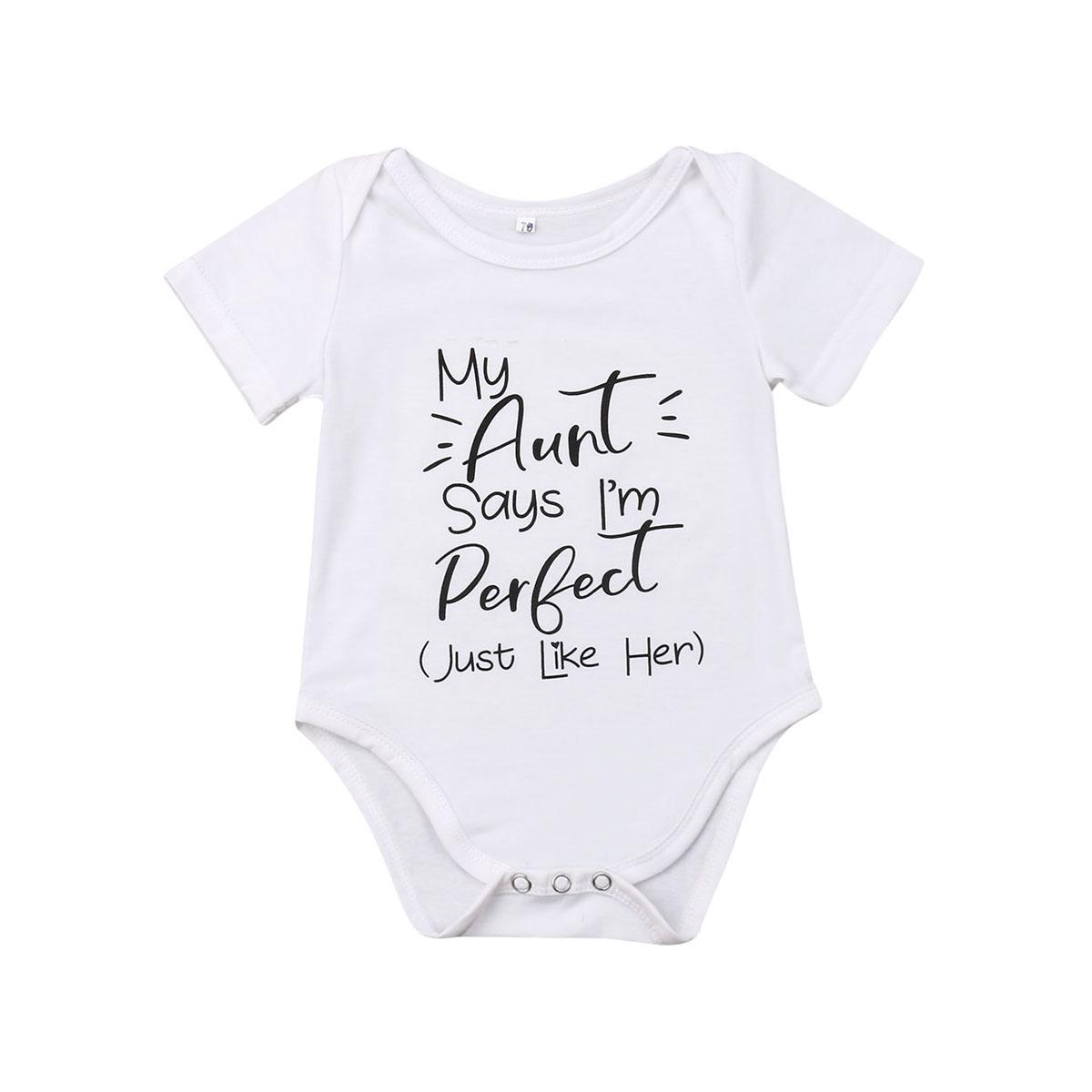 I Love My Aunty to The Moon and Back Baby Boy Romper Baby Girl Romper Baby Romper