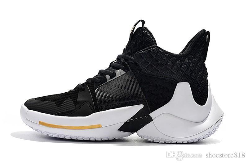 2020 Hombres 0,2 PF zapatillas de deporte Russell Westbrook II 2019 nuevo ¿por qué no zapatos de baloncesto de las zapatillas de deporte cero 2 entrenadores originales nosotros el tamaño 40-46