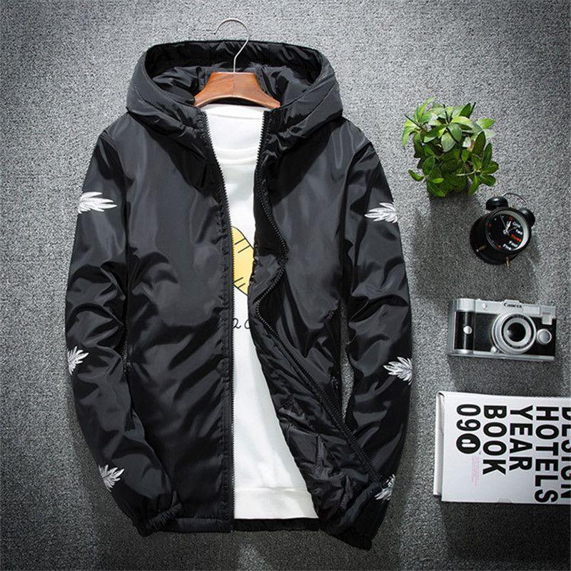 2019 new spring jacket men's personality fashion jacket plus fertilizer XL coat thin section trend wholesale
