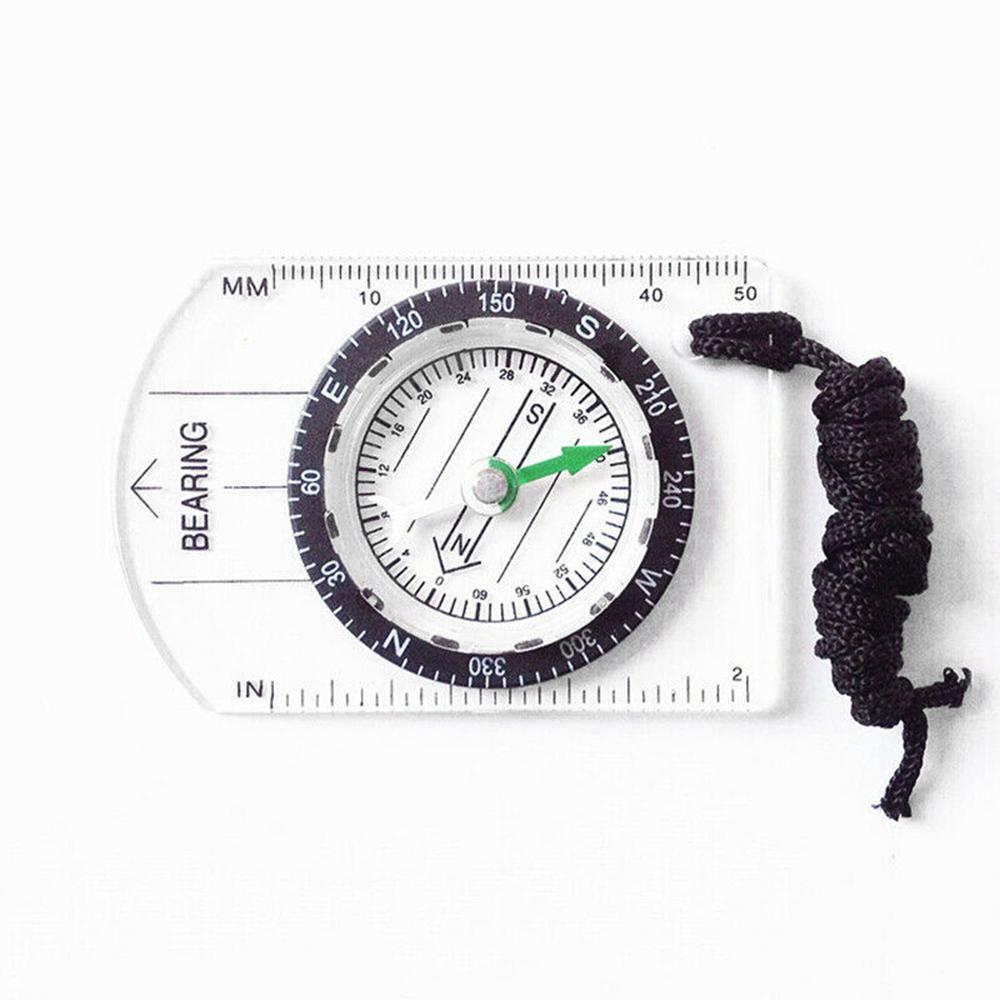 New Professional Mini Compass Map Scale Ruler Équipement multifonctionnel protable randonnée en plein air Camping survie accessoires FT110