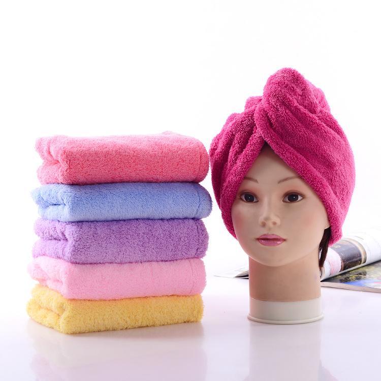 6 ألوان لينة دش قبعات منشفة ماجيك سريعة جاف الشعر ستوكات منشفة تجفيف مريحة العمامة التفاف قبعة قبعات سبا الاستحمام قبعات DH0446 t03