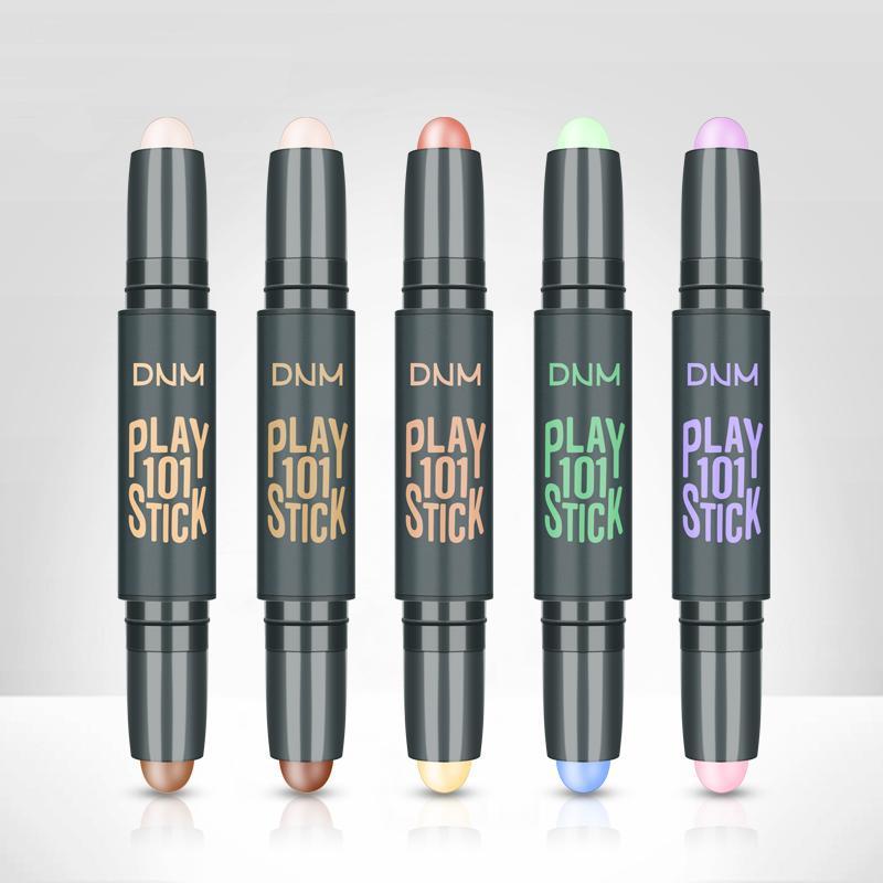DNM Gesichts wasserdichte High Light Bar Doppel Concealer Schatten Highlight Langlebige Make-up Erstellt 5 Farben V Gesicht Schönheit Concealer Bar