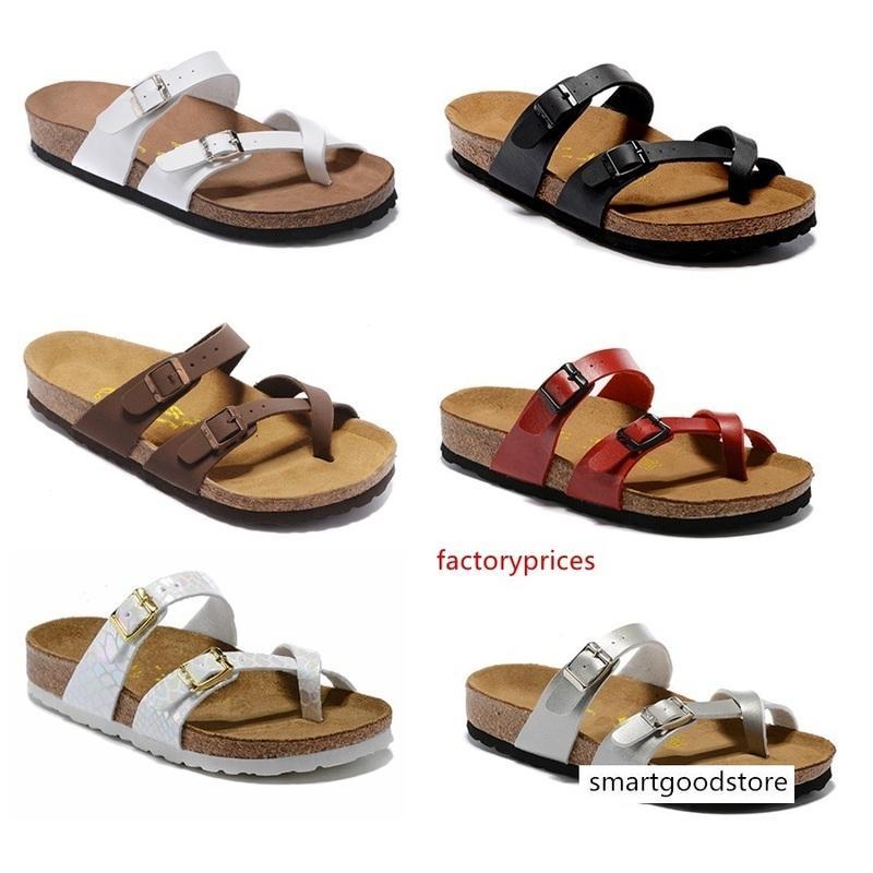 Satış Mayari Arizona Gizeh 2019 yaz Erkekler Kadınlar sandalet Mantar terlik rahat ayakkabı Moda Flats size34-46 karışık renkler yazdırmak unisex yassı