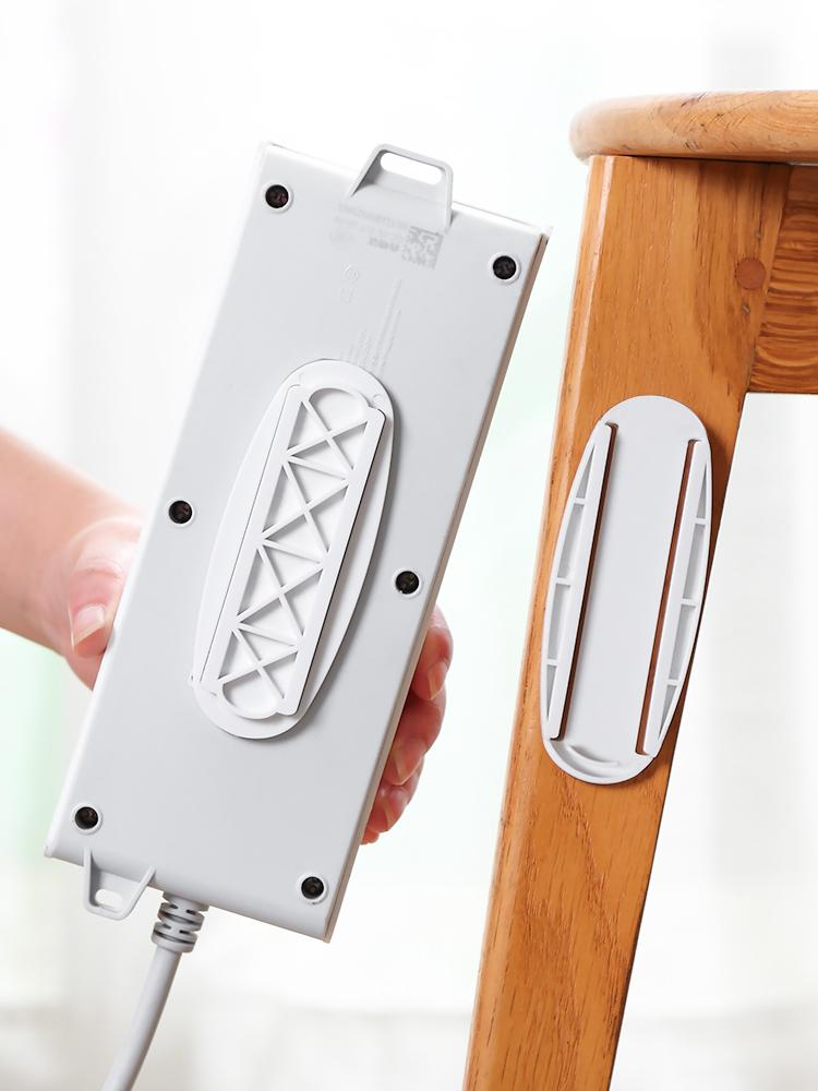 Étagères pour mur auto-adhésif de bureau Socket Fixateur câble Organisateur Porte auto-adhésif Power Strip Fixator mur Mounted Fixateur