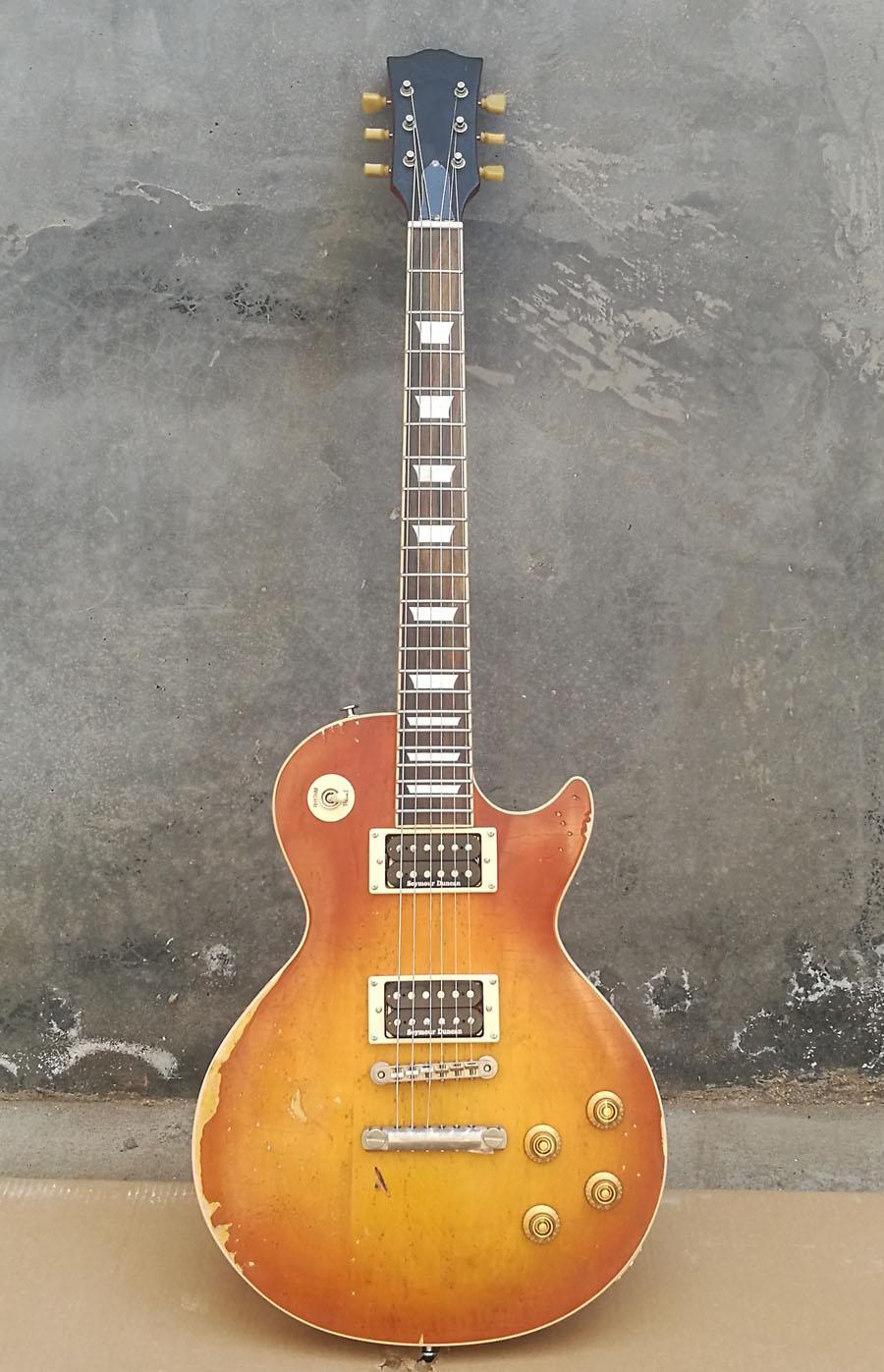 Aged качества электрогитара твердый Plain кленовый крышка гитара перламутровой инкрустации, Slash Aged