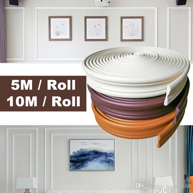 3D autoadhesivo Dormitorio Salón fondo de la pared estéreo Zócalo Zócalo línea de la esquina línea de la cintura Línea de placa base Mural líneas de borde
