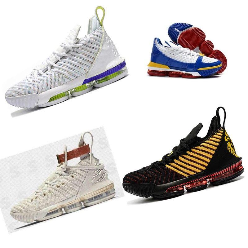 Acheter 2019 16S Chaussures De Basket Ball De L'égalité Hommes James Baskets Regarder Le Roi Trône Oreo Nouveau Lebron 16 Chaussures De Sport