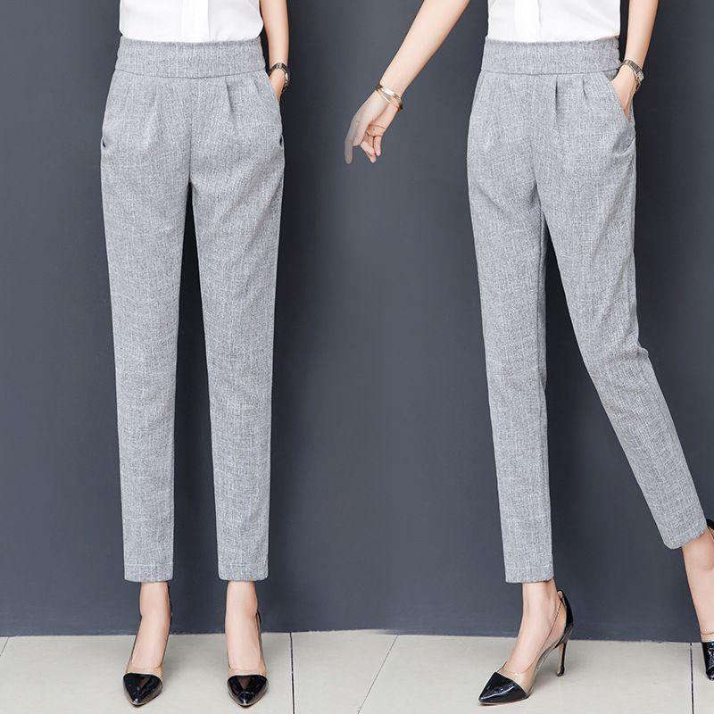 2019 Nouveau Femmes de haute qualité Pantalons longs Mode Femmes Casual Ladies Pants 099 Y200114