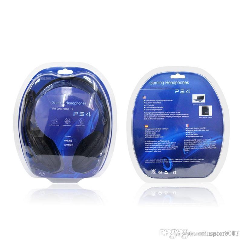 PS4 Oyun Kulaklık Ucuz En Yeni 3.5mm kulaklık Oyun Kulaklık ile MIC İçin Playstation4 PC Bilgisayar Dizüstü Kulaklık