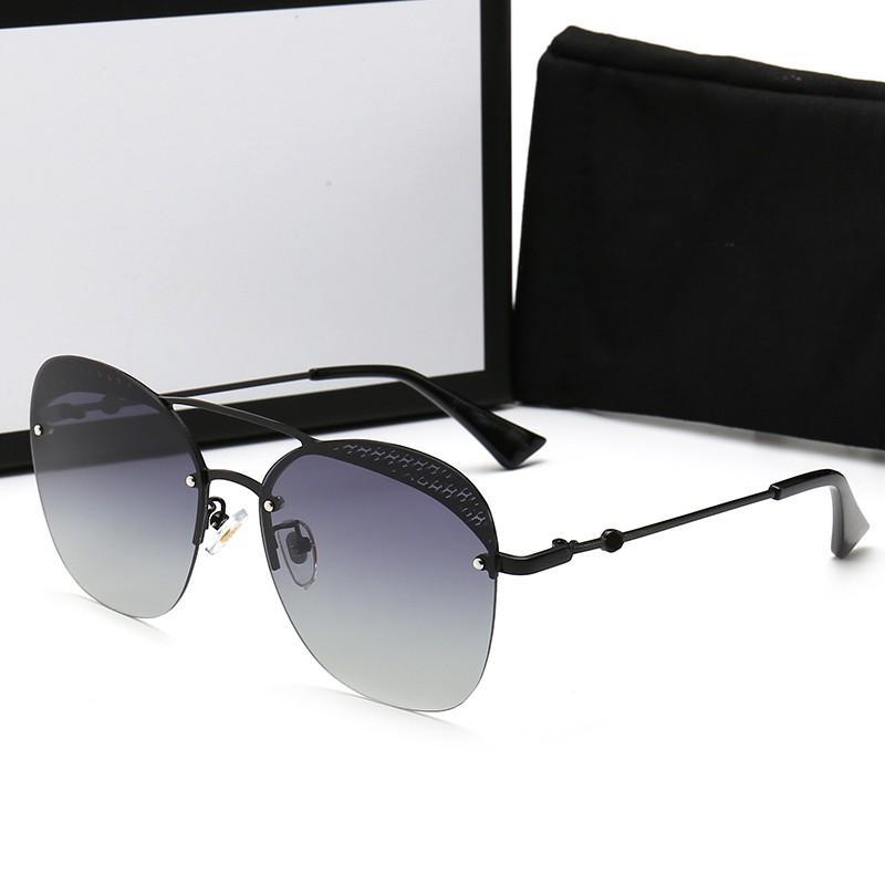 Nouveau Mode Femmes Designer Lunettes de soleil pour hommes polarisants Lunettes de soleil sans monture UV400 lunettes de soleil avec étui et boîte