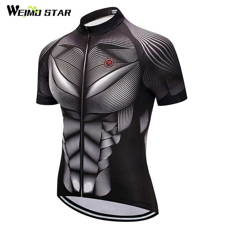 Weimostar Verão Ciclismo Vestuário Team Racing Esporte Ciclismo Jersey 2020 respirável bicicleta usar roupas MTB bicicleta Jersey Shirt X1