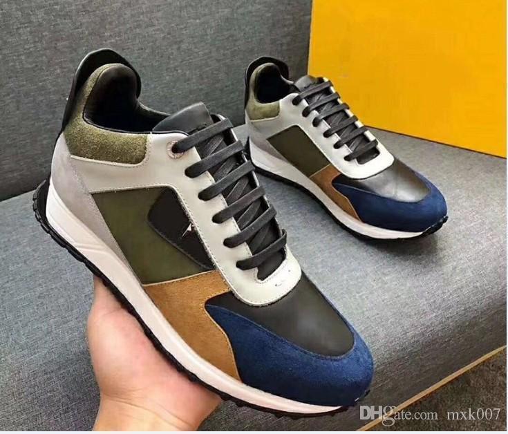 2019 Top Quality FD di lusso scarpe Marchi FUN PELLICCIA progettista sneaker regalo mens del cuoio genuino delle donne Racer Hot mette in mostra i caricamenti del sistema casuali New18901