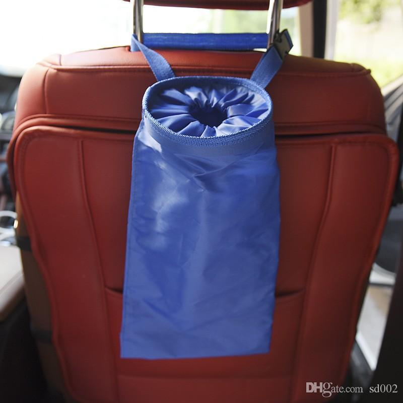 Resuable المقعد الخلفي شنقا القمامة بن متعددة الوظائف القمامة حقيبة التخزين سهلة لقبول القمامة مرتبة سيارة المنظم الإبداعية 4 5xs bb