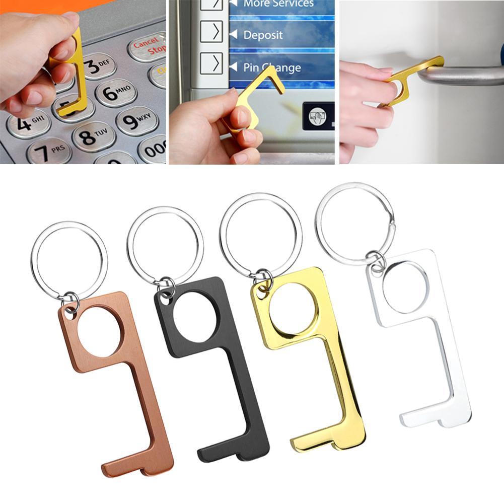 Hygiene Hand mit Key Ring Freies Türöffner tragbares Pressaufzugswerkzeug