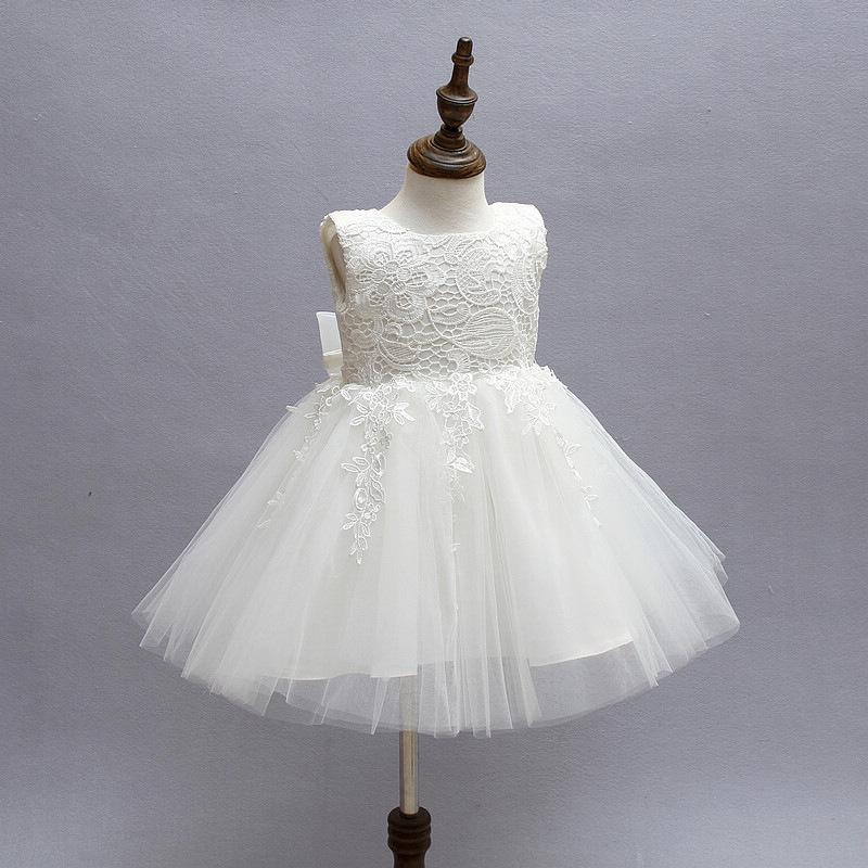 Baby Kids Party Gown Design Pageant Wedding Dresses Infant Princess Little Girls 1 Year Birthday Dress Newborn Christening Gowns Y190516