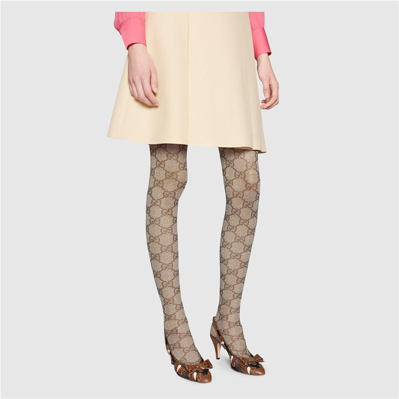 Spring Autumn Full Letter Pantyhose European and American Khaki Pantyhose High Elastic Top Quality Leggings With Box
