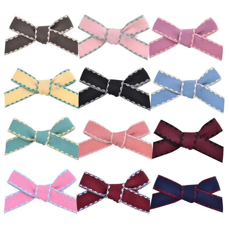 Baby Girls 2,7 дюйма конфеты красочные луки шпильки для волос клип зажима для волос дети головной убор красивый HuiLin C361