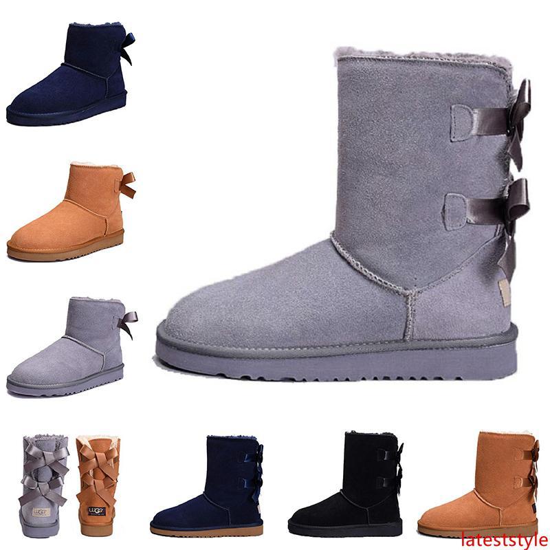 2019 Mulheres Da moda Austrália Botas Clássicas de joelhos botas de tornozelo WGG Preto cinzento castanheiro azul marinha mulheres raparigas Botas Tamanho 36-41