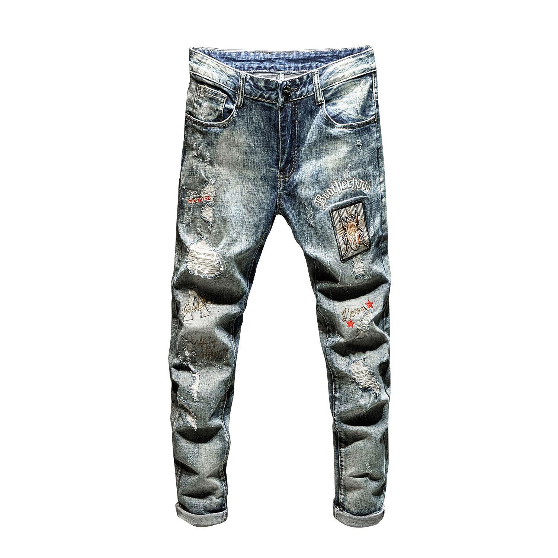 Compre Diesel Hombres Los Pantalones Vaqueros 2020 Pantalones Vaqueros De Diseno De Lujo Para Hombre Flaco Ciclista De Talle Alto Delgado De La Manera Reactivacion En Forma De Roca Pegarse Parches De
