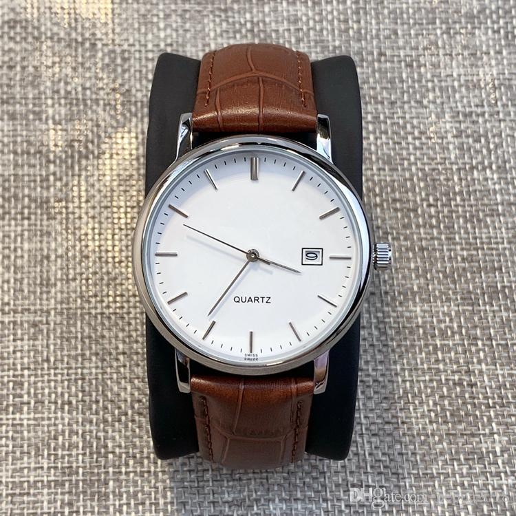 2019 neue stil top elegante gentleman mode uhr mit datum japan bewegung kleid luxus design kalender quarzuhr uhr männliche armbanduhr