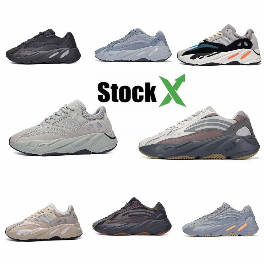 2020 Kanye West 700 pattini correnti degli uomini delle donne di utilità nero Vanta Tephra inerzia Salt Inizio corridore onda Sport Sneakers Trainers Dimensione 3 # QA809