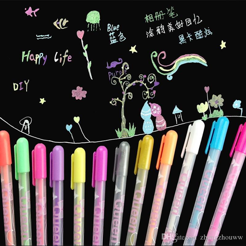 0.8 ملليمتر حلوى لون الأميرة نمط متعدد الألوان هلام حبر القلم اجتماعيون القرطاسية اللوازم المدرسية مكتب papelaria