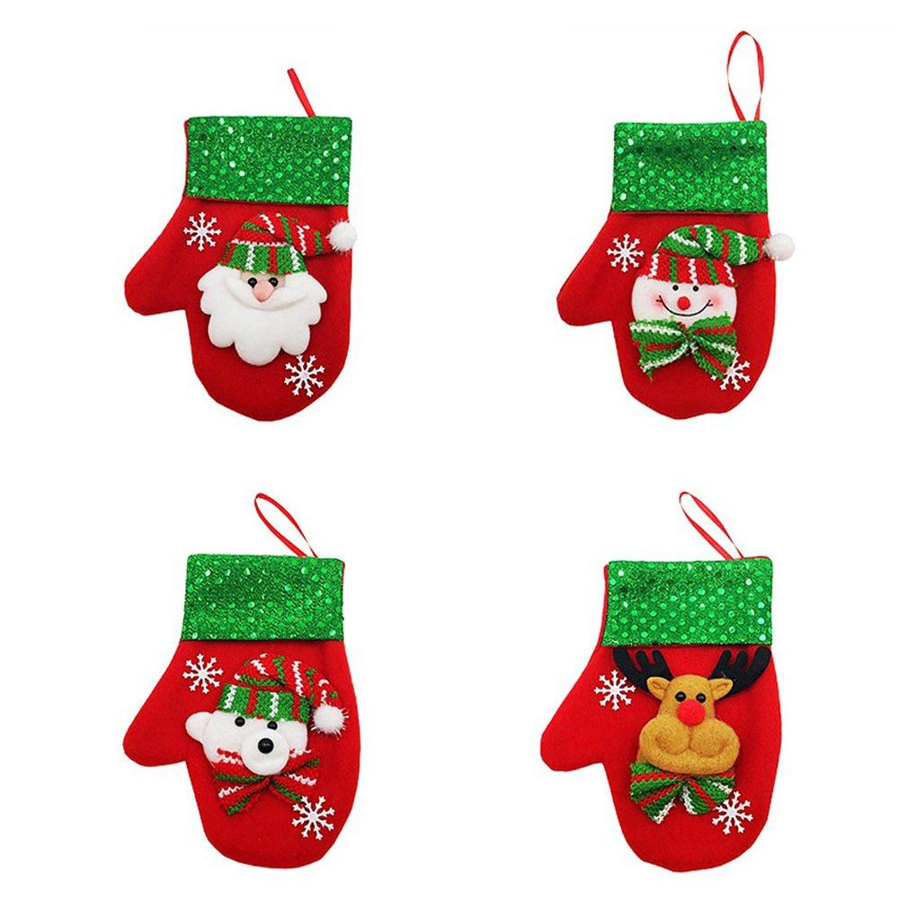 Christmas Decorations Christmas Doll Sequins Flannel Gloves Candy Knives And Forks Gift Bags Cloth