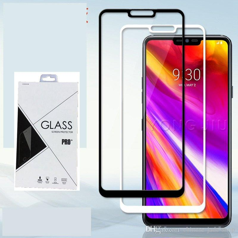 9H Full Cover Tempered Glass Screen Protector Silk Print for LG Stylus 5 stylo 4 K40 Q6 Q7 G6 G7 600PCS/LOT Retail package