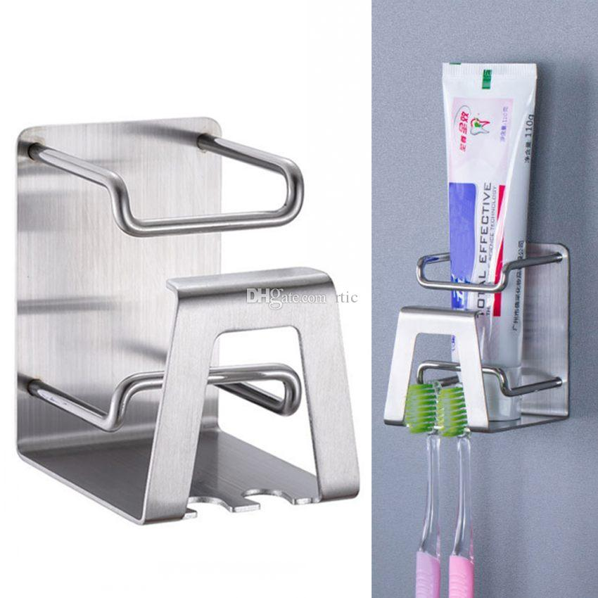 Electric Toothbrush Holder Wall Suction for Bathroom Adhesive Stainless Steel