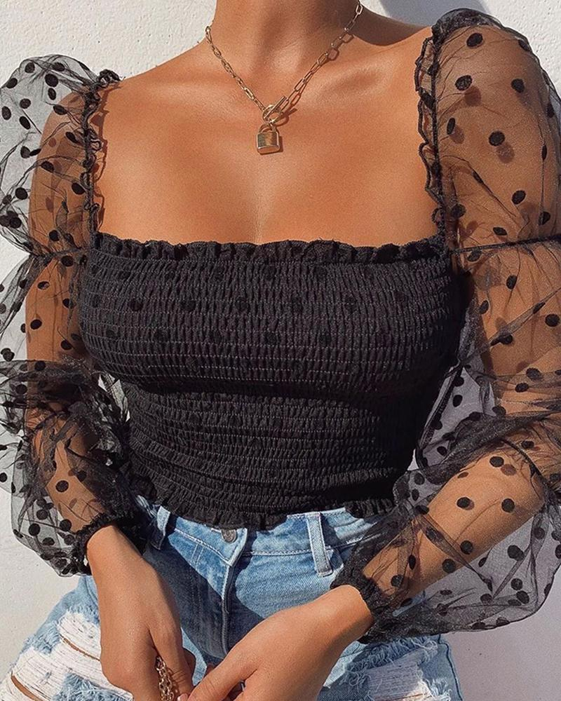 Polka Dot Kadın Tasarımcı tişörtleri Kısa Stil Saf Kadın Moda Günlük Kadın Giyim Yeni Geliş Tops