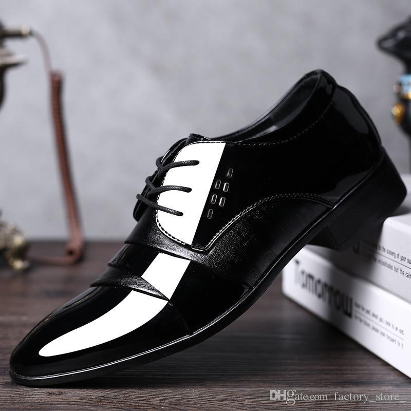 Black Wedding Formal Shoe Mens Leather